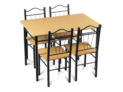 Комплект маса и 4 стола Carmen 20009