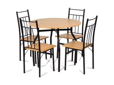 Комплект маса и 4 стола Carmen 20010