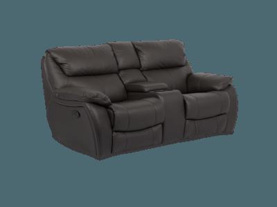 Кожен диван - двойка с релакс механизъм BAR