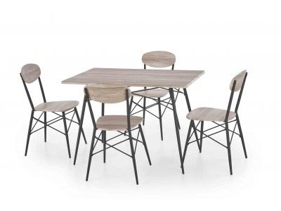 Комплект маса с 4 стола Kabir