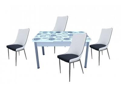 Комплект разтегателна маса с 4 стола Indji II