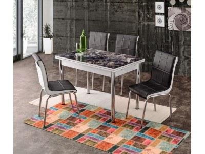 Комплект разтегателна маса с 4 стола Adana I