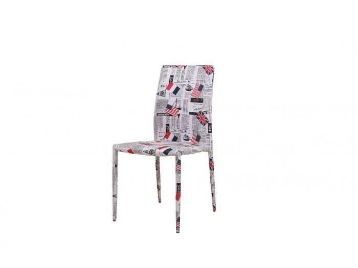 Стол K273 - бял с декорация