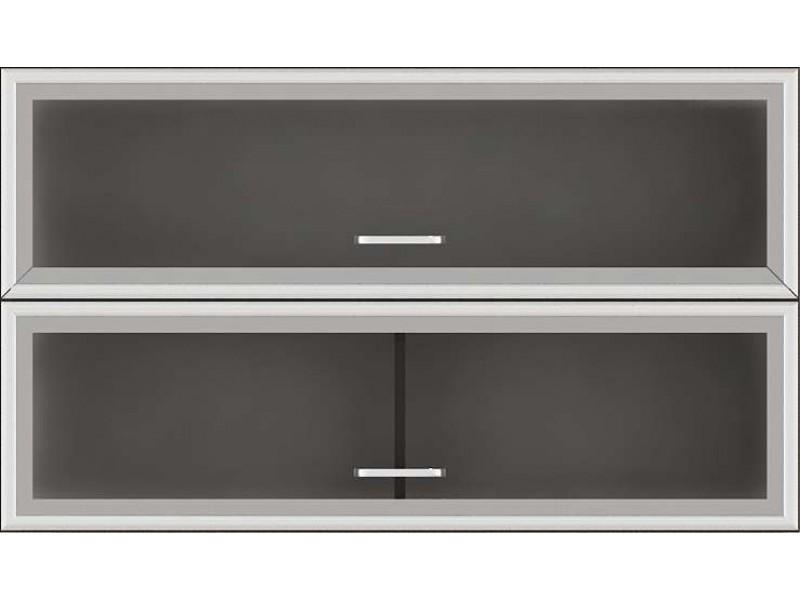 Кухненски модул G36 Регал с клапващи витрини