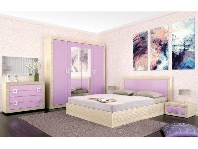 Спален комплект Кристина/ лилаво