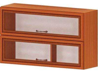 Кухненски модул G38 Ревена с клапващи витрини