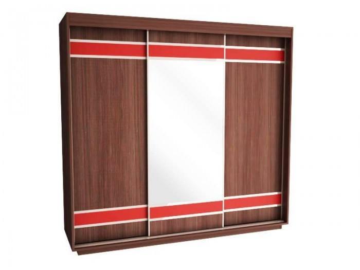 Трикрилен гардероб с плъзгащи врати Вега