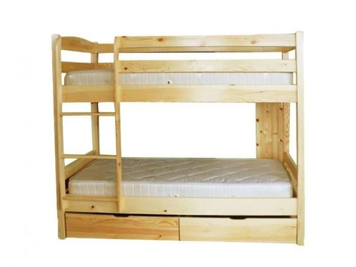 Двуетажно легло от чам