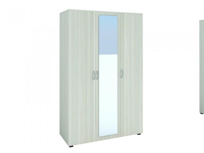 Трикрилен гардероб с огледало 8