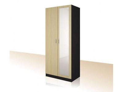 Двукрилен гардероб с огледало и 3бр. рафтове Примо 10