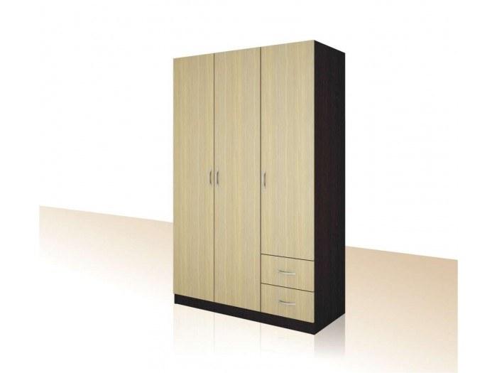 Трикрилен гардероб с чекмеджета Примо 13