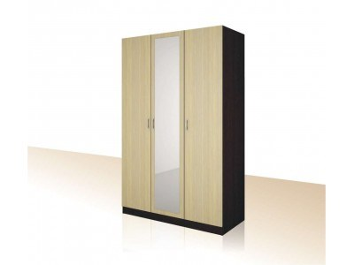 Трикрилен гардероб с огледало Примо 12