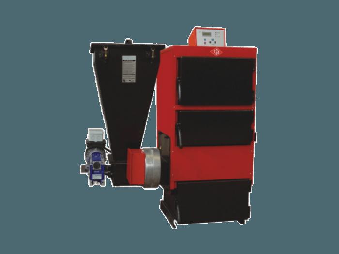 Стоманен котел с бункер за пелети и въглища Diplomat EK3G/S 70